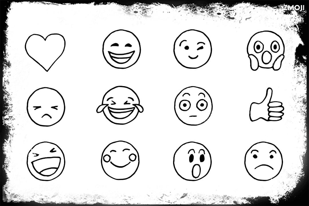Outline heart emoji black Getting To
